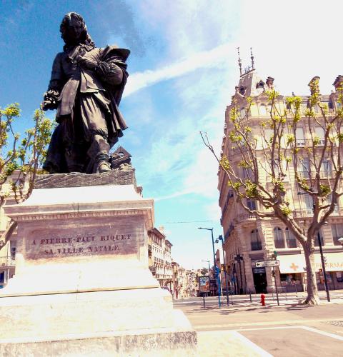 Les allées Paul Riquet à Béziers